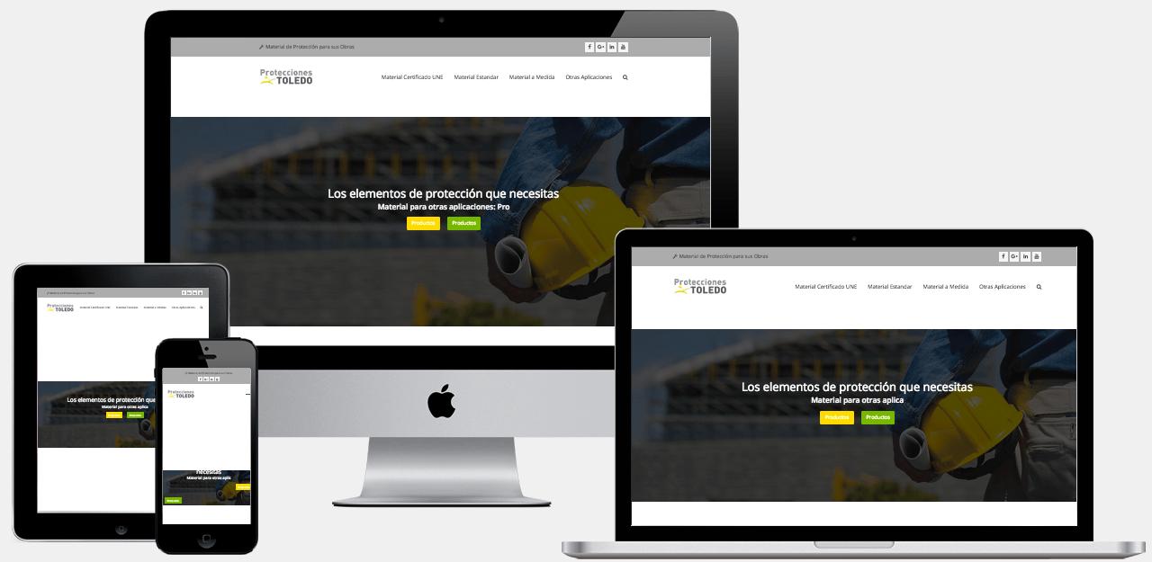 Diseño Web Empresa Protecciones Metalicas