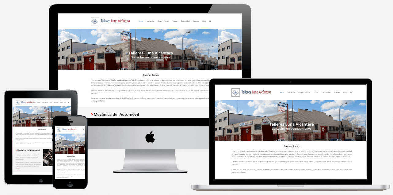 Diseño Responsive Web Talleres Luna Alcantara