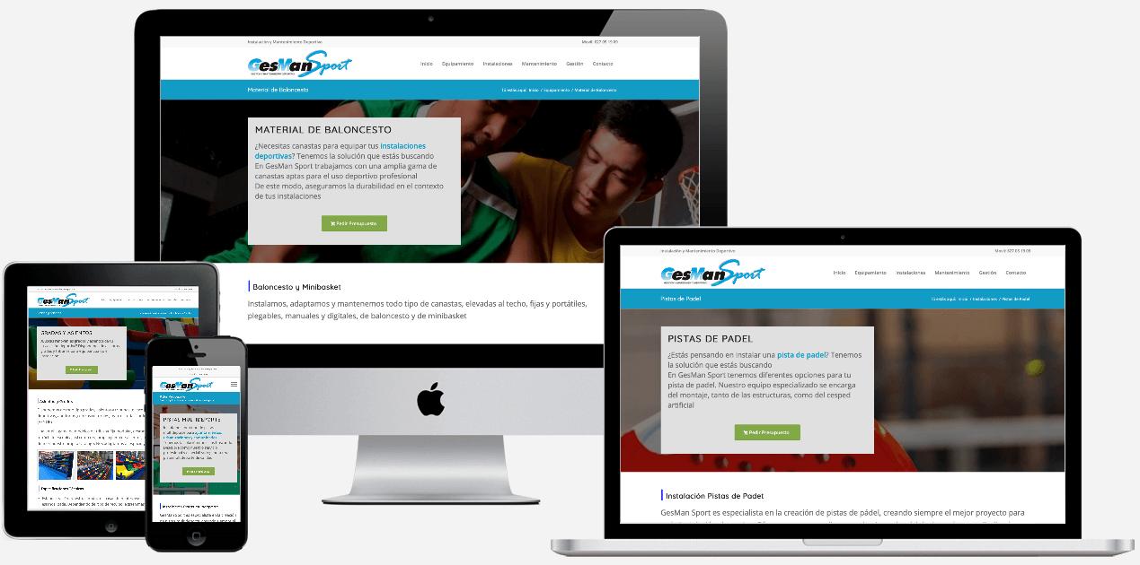 Web Empresa Mantenimiento Instalaciones Deportes Gesmansport